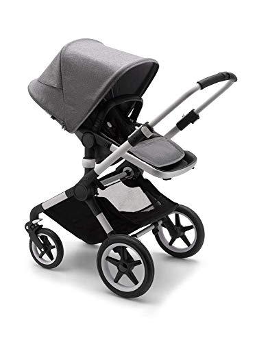 Bugaboo Fox 2 Complete Full-Size Stroller, The Most Advanced Comfort Stroller - Aluminum/Grey Melange