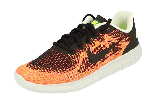 Nike Free RN 2017 GS Running Trainers 904255 Sneakers Shoes (UK 4.5 us 5Y EU 37.5, black hot punch 003)