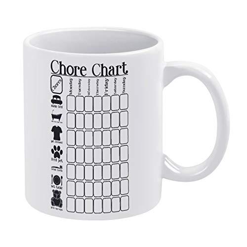 Chore Chart 3 – 01 - Taza de café para hombre y mujer, cumpleaños, 15 onzas, color blanco