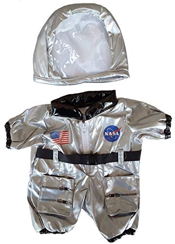 38510 Silver NASA Astronaut Outfit Clothes for 14 - 18 Stuffed Animals