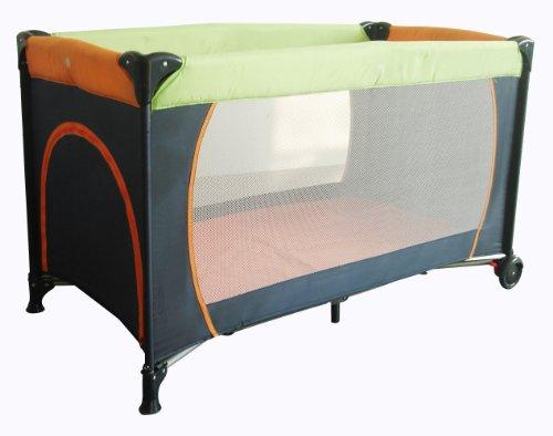 Babywelt 36102002-592 - Reisefaltbett mit Schlupf und Rollen, 60 x 120 cm