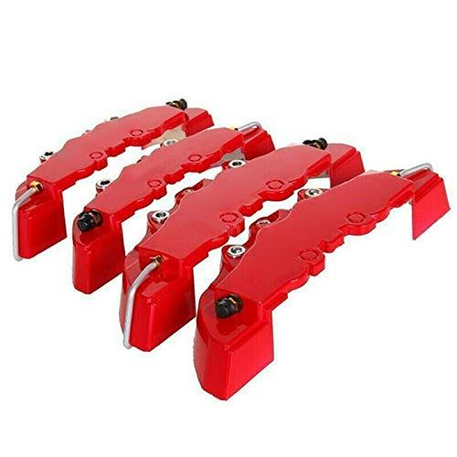 WHWEI RED 4 Ke vor rot Stil 3D-Auto Scheibenbremssattelabdeckung nach