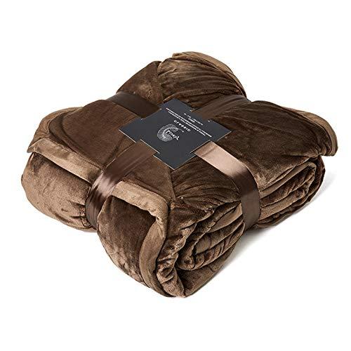 Manta Borreguillo Reversible De Franela/Sherpa 100% Microfibra Extra Suave,Brown,260 * 229cm
