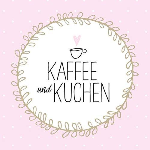 AvanCarte Servietten Tischdeko Geburtstag Kaffee Kuchen 20 St 3-lagig 33x33cm