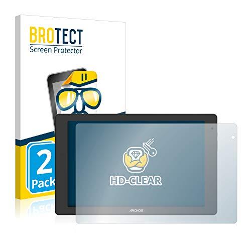 BROTECT Schutzfolie kompatibel mit Archos Oxygen 101b (2 Stück) klare Bildschirmschutz-Folie