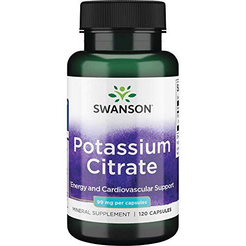 Swanson Potassium Citrate 99 Milligrams 120 Capsules