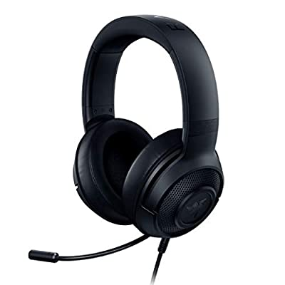 Razer Kraken X Ultralight Gaming Headset: 7.1 Surround Sound Capable - Lightweight Frame - Bendable Cardioid Microphone - For PC, Xbox, PS4, Nintendo Switch - Black (Renewed) by Razer Inc