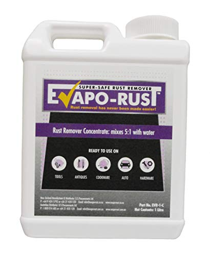 Evapo-Rust Acid-Free Super Safe Rust Remover - 1ltr Concentrate - Mixes to 6 Litres