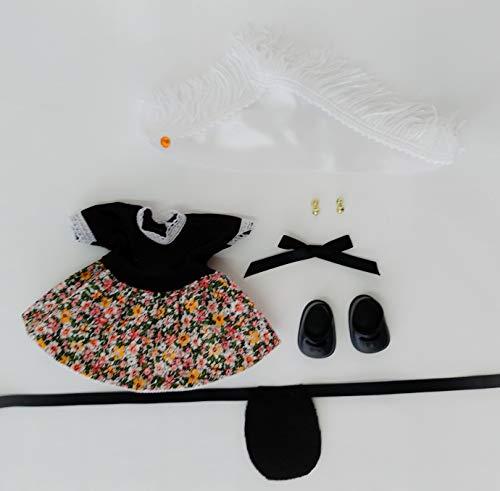 Folk Artesanía Vestido y complementos Regional típico Aragonesa o Baturra muñeca Barriguitas de Famosa. Muñeca no incluida en el Lote.