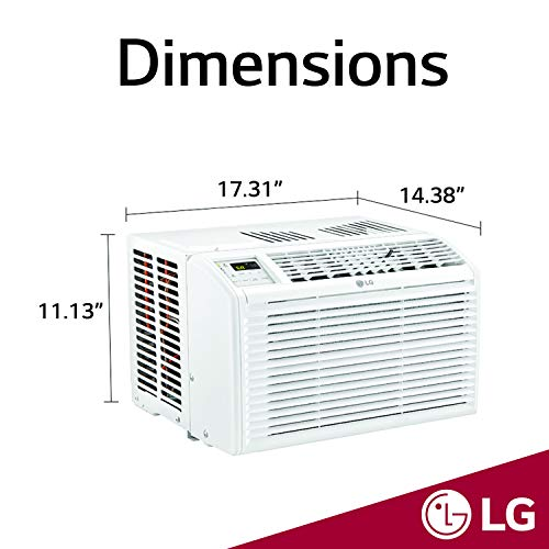 LG 6,000 BTU 115V Window Air Conditioner with Remote Control, White