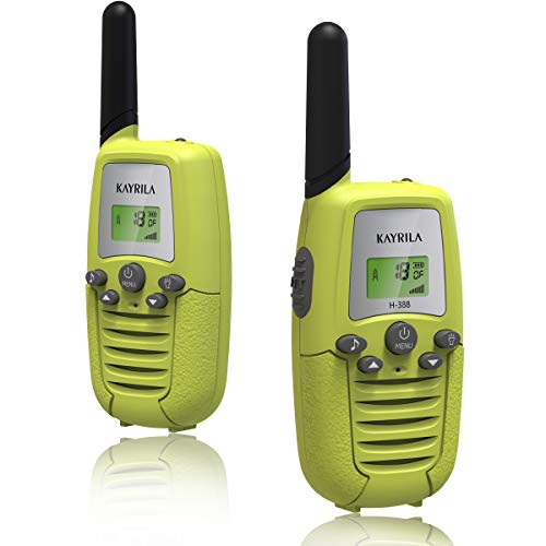 Walkie Talkies for Kids-Long Range FRS 22 Channel 2 Way Radio Walky Talkie Boys Girls Toys with Backlit LCD Flashlight Vox Box Voice Activated-2 Pack