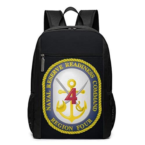 JUKIL - Mochila Multifuncional Duradera con Transferencia de Vinilo, Comando de preparación de Reserva Naval, 17 Pulgadas