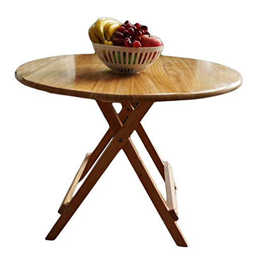 WTT Opklapbare tafel Tuintafels eettafel Vierkante eettafel in eenvoudige massief hout outdoor draagbare Eettafel klein appartement Thuis (Afmetingen: 76 diameter -60 hoogte)