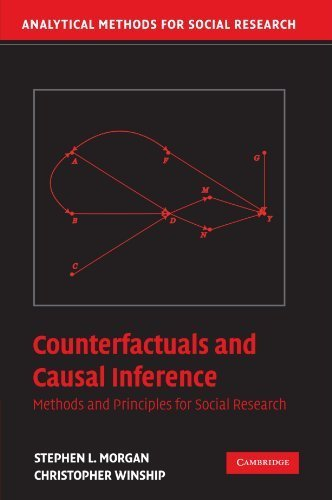 Counterfactuals and Causal Inference: Methods and Principles for Social Research (Analytical Methods for Social Research) 1st edition by Morgan, Stephen L., Winship, Christopher (2007) Paperback