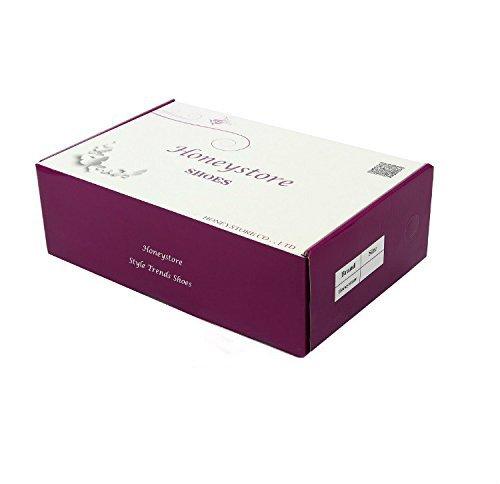 Honeystore Damen's Geschlossene Zehe T-Riemen Glitter Tanzschuhe Gold 6 UK - 4