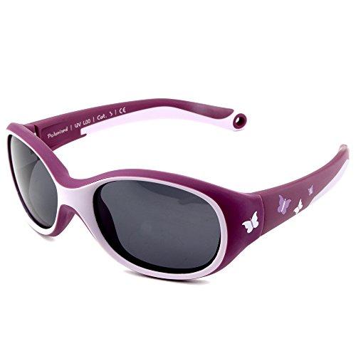 ActiveSol KINDER-Sonnenbrille | MÄDCHEN | 100% UV 400 Schutz | polarisiert | unzerstörbar aus flexiblem Gummi | 2-6 Jahre | 22 Gramm [Butterfly]