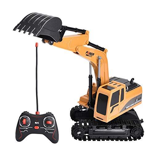 Dilwe Fernbedienung Bagger, 6 Kanäle Bagger LKW 1/24 RC Engineering Baufahrzeug Spielzeug Geschenk für Kinder ( Legierung)