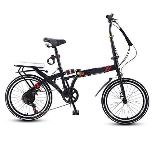 """TXTC 16"""" Peso Ligero Plegable Bicicleta De Ciudad, Cruiser Bici Mujeres De La Bici con Ajustable Manillar Mini Varón Adulto Joven Bicicleta De Carretera De Velocidad Variable Bike Portátil"""