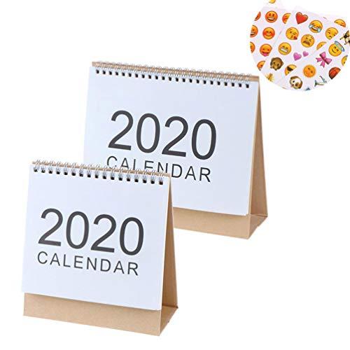 BraveWind - Calendario mensual 2019-2020 inglés de Escritorio, Calendario Diario, Calendario con día Festivo Americano para Estudiantes, Oficina