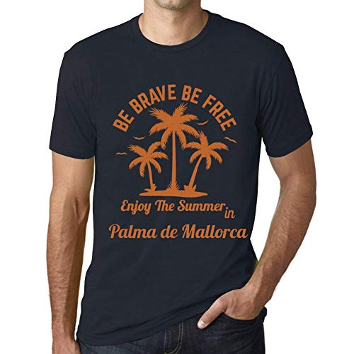 Hombre Camiseta Gráfico T-Shirt Be Brave & Free Enjoy The Summer Palma de Mallorca Marine