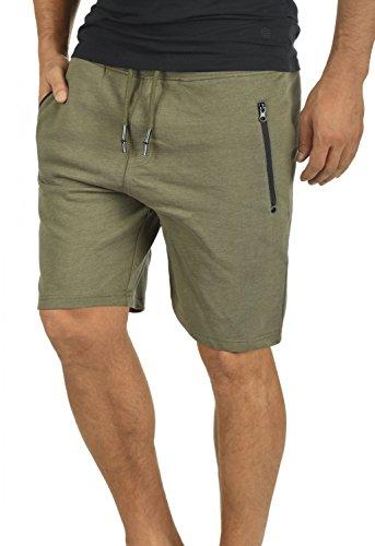 !Solid Taras Herren Sweatshorts Kurze Hose Jogginghose Mit Verschließbaren Eingriffstaschen Und Kordel Regular Fit, Größe:M, Farbe:Ivy Green Melange (8797)