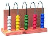 Ábaco 5 columnas en madera
