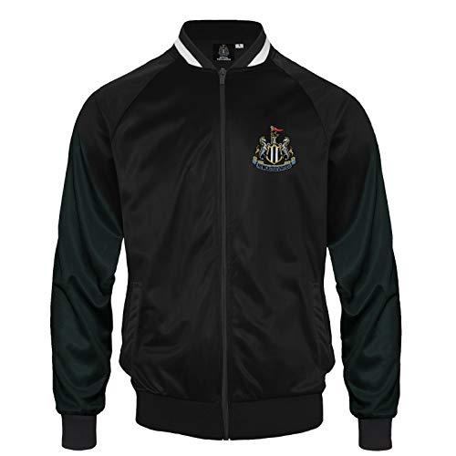 Newcastle United FC - Herren Trainingsjacke im Retro-Design - Offizielles Merchandise - Geschenk für Fußballfans - L