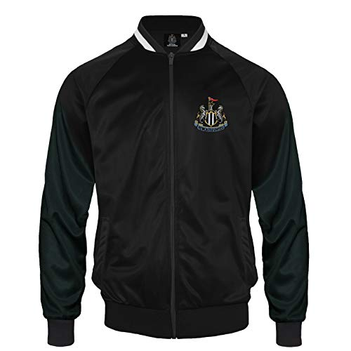 Newcastle United FC Official Soccer Gift Mens Retro Track Top Jacket Large