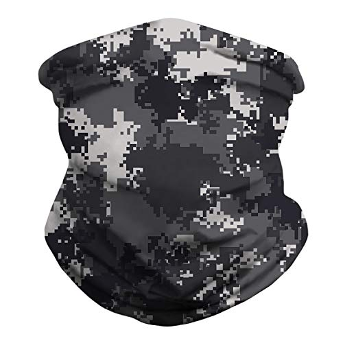 BOTINDO Fashion Face Bandanas Sports & Casual Headwear Neck Gaiter, Headwrap, Balaclava, Helmet Liner (Arctic Digital Camo)