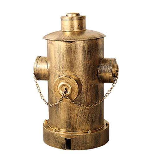 Bote de Basura Pedal Cubo de Basura Grande con la Tapa de la Personalidad Creativa Boca de Incendios Modelo Cubo de Basura de Interior y Exterior Disponible Papeleras (Color : Gold, tamaño : Large)
