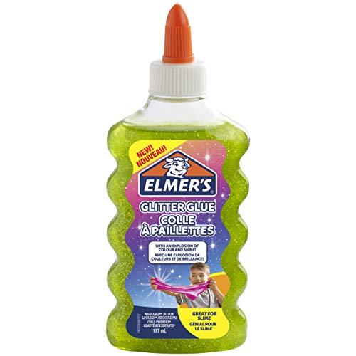 Elmer's PVA Glitter lijm | Groen | 177 ml | Wasbaar | Geweldig voor het maken van slijm | 1 Count