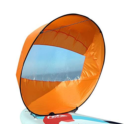HAN XIU Kit de Vela de Kayak de Kayak Kayak de 42 Pulgadas Kit de Vela instantánea de la Canoa de la Vela de la Canoa y Las implementadas rápidas, compactas y portátiles,Naranja
