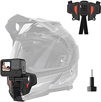TELESIN Upgraded Motorcycle Helmet Chin Mount for GoPro Max Hero 9 8 7 6 5 Insta 360 One R One X DJI Osmo Action Pocket Cellphone and More Action Camera with Go Pro Mount Adapter Screw Accessories
