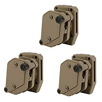 KRYDEX IPSC USPSA IDPA Competition Shooting Multi-Angle Adjustment Speed Shooter s Pistol Magazine Pouch Mag Holster Holder  DE 3 Pcs