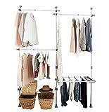 Closet Organization System Clothing Hanger Rack Heavy Duty Hanging Shelf Organizer Modular Storage System Shelves Dividers Pants and Shelf Hanger, Garment Rack, Easy to Install