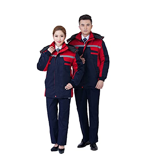 Unisex Hooded Warm JacketWork Elastic Cuffs Reusable Winter Thick Overalls for Auto Repair Spray Paint Farm