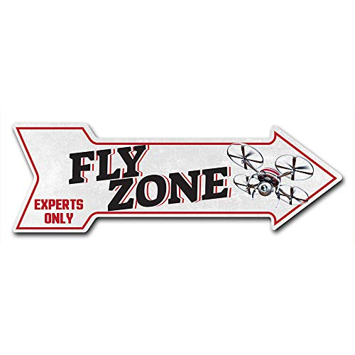 """SignMission Decal Art Fly Zone Decal Indoor/Outdoor Decor 24"""" Directional Sticker Vinyl Wall Decals"""