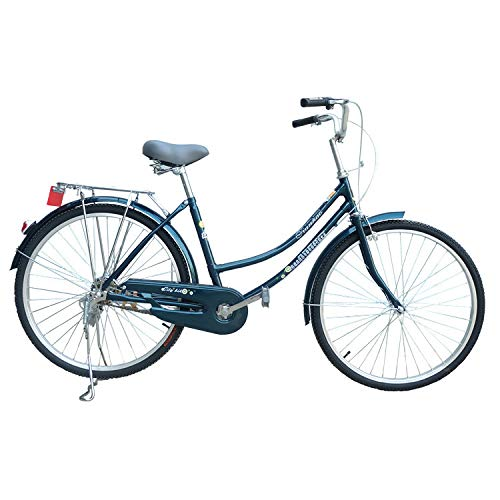 """US Spot 26"""" Women's Single-Speed Beach Cruiser Bicycle,Complete Cruiser Bikes Unisex Classic Iron Bicycle Unique Art Deco Scooter,Road Bike,Seaside Travel Bicycle,Single Speed for Recreation"""