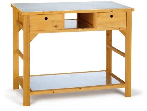 Habau 3107 Gartentisch mit Schublade, 110 x 55 x 99 cm