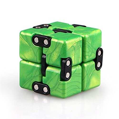 LDLD Infinity Cube 3 PCS Caja de Bolsillo de artefacto Reductor de presión de la yema del Dedo para ventilar, aliviar el estrés, aliviar los Juguetes de ansiedad,Verde
