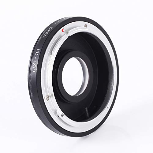 FocusFoto Adapter Ring for FD/FC Lens to EF EF-S Mount Camera with Optical Glass & Caps fits for EOS DSLR 5D Mark IV III II 1Ds 6D 7D 90D 80D 77D 70D 60D 1500D 1300D 1200D 760D 750D 700D