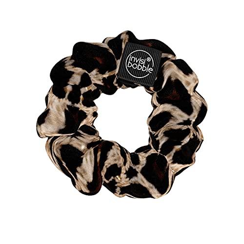 Invisibobble Sprunchie Purrfection, Stoff Haargummi leopard für Mädchen und Damen, kein verknoten, starker Halt und haarschonend, Scrunchie Haargummi designed im Herzen Münchens