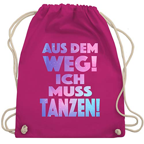 Shirtracer Festival Turnbeutel - Aus dem Weg! Ich muss tanzen! - Unisize - Fuchsia - turnbeutel festival - WM110 - Turnbeutel und Stoffbeutel aus Baumwolle