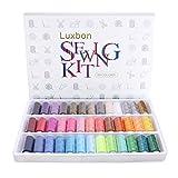 Luxbon - Confezione di 39 spolette di colori assortiti, kit di fili per in poliestere ideali per cucire a mano o con macchina da cucire