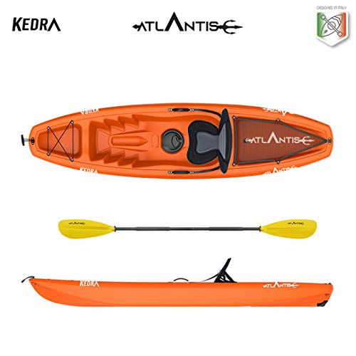 ATLANTIS Kayak-Canoa KEDRA Arancio cm 268 - seggiolino - gavone - ruotino - pagaia