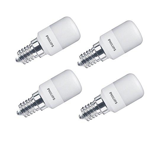 Philips LED-Leuchtmittel, E14,Design: kleine Edison-Glühbirne, Ersatz für 15-W-Leuchtmittel, 1,7W,warmweiß, glas, weiß, E14, 1.7 wattsW