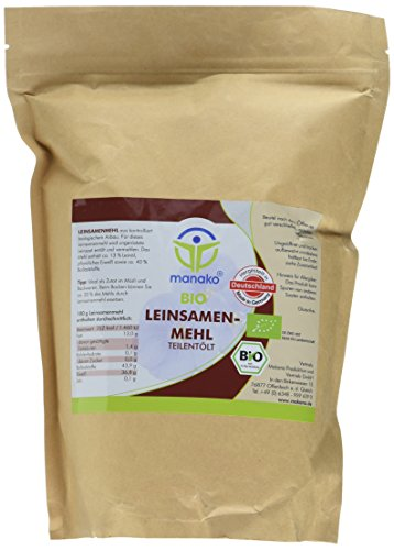 manako Bio Leinsamenmehl, 1 kg Zipbeutel