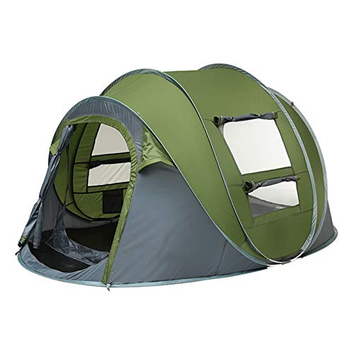 HSART 2-3 Person Pop Up Tent, 3 Second Setup Tent, Waterproof Tent, 2 Big Doors and 4 Ventilated Mesh Windows, Instant Tent for Family
