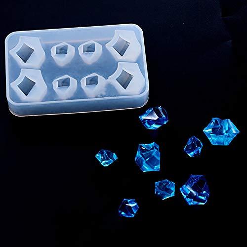 Liquidation de moule en silicone, moule en silicone en forme de diamant, outils de bijoux faits à la main, cuisine, salle à manger et bar pour Pâques et St Patrick, clair