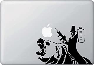 Abraham Lincoln Riding a Bear - Macbook or Laptop Decal